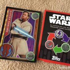 Trading Cards: OBI-WAN KENOBI 94 FOIL STAR WARS TRADING CARD GAME TOPPS KREATEN. Lote 118079907