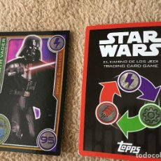 Trading Cards: DARK VADER 95 FOIL STAR WARS TRADING CARD GAME TOPPS KREATEN. Lote 118079983