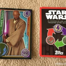 Trading Cards: MACE WINDU 92 FOIL STAR WARS TRADING CARD GAME TOPPS KREATEN. Lote 118080079