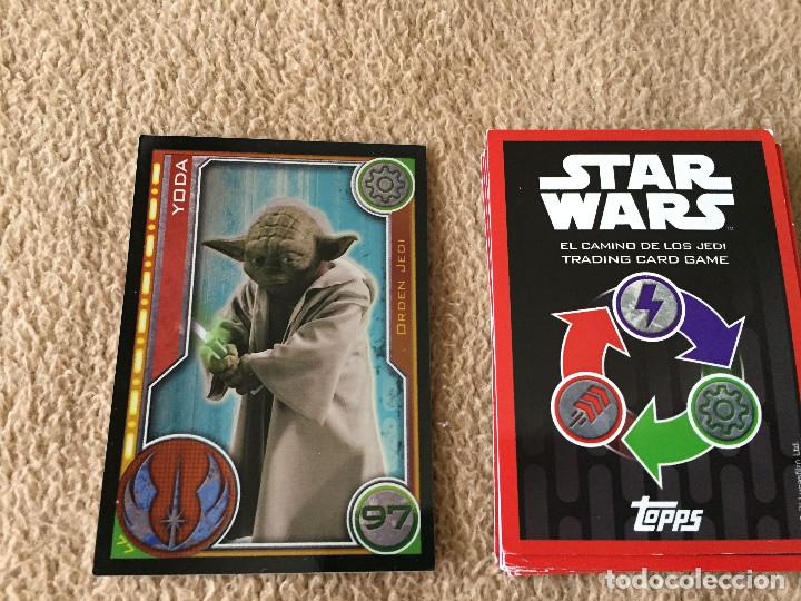 YODA 97 FOIL STAR WARS TRADING CARD GAME TOPPS KREATEN (Coleccionismo - Cromos y Álbumes - Trading Cards)