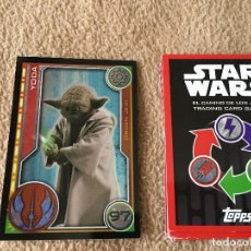 Trading Cards: YODA 97 FOIL STAR WARS TRADING CARD GAME TOPPS KREATEN. Lote 118080455