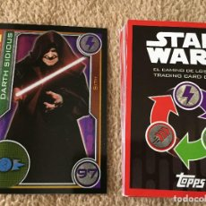 Trading Cards: DARTH SIDIOUS 97 FOIL STAR WARS TRADING CARD GAME TOPPS KREATEN. Lote 118080511