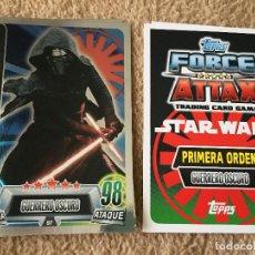 Trading Cards: KYLO REN 97 FOIL STAR WARS FORCE ATTAX TOPPS KREATEN. Lote 118080751
