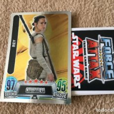 Trading Cards: REY 94 FOIL STAR WARS FORCE ATTAX TOPPS KREATEN. Lote 118080803