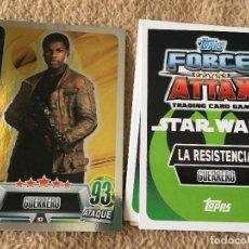 Trading Cards: FINN 93 FOIL STAR WARS FORCE ATTAX TOPPS KREATEN. Lote 118080955