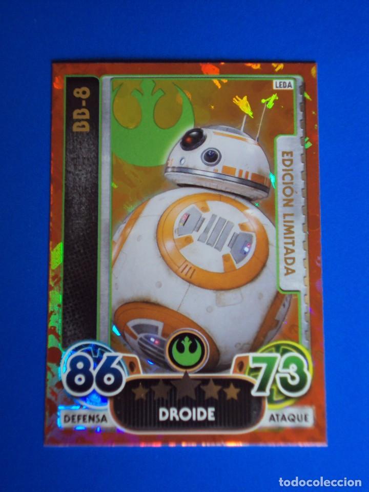 BB-8 CARD EDICIÓN LIMITADA LEBA. STAR WARS. FORCE ATTAX EXTRA. TOPPS. NUEVA. CARTA. (Coleccionismo - Cromos y Álbumes - Trading Cards)