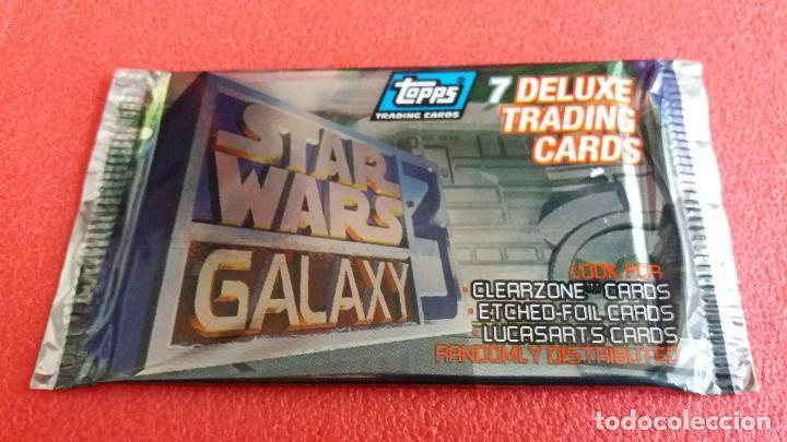 F-500- SOBRE TOPPS TRADING CARDS STAR WARS GALAXY. SIN ABRIR. DE 1995. (Coleccionismo - Cromos y Álbumes - Trading Cards)