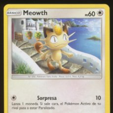 Trading Cards: #101/147. MEOWTH - S&L SOMBRAS ARDIENTES - CARTA POKEMON. Lote 118923687