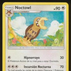 Trading Cards: #107/147. NOCTOWL - S&L SOMBRAS ARDIENTES - CARTA POKEMON. Lote 118929151