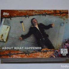 Trading Cards: THE WALKING DEAD : TRADING CARDS TEMPORADA 7, COMPLETA (100 CARDS) , EDICION LIMITADA. Lote 118954527