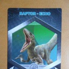 Trading Cards: Nº 17 - JURASSIC WORLD - RAPTOR-ECHO - 2018 - CROMOCARTAS - SUPERMERCADOS DIA. Lote 125822124