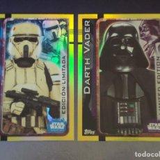 Trading Cards: DARTH VADER Y SOLDADO DE COSTA EDICIONES LIMITADAS LEMPA Y LEPP. STAR WARS. ROGUE ONE.TOPPS. NUEVAS.. Lote 129040399