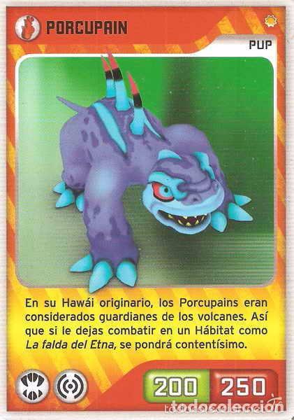 INVIZIMALS, DE PANINI. PORCUPAIN - PUP. TRADING CARD Nº 19. (Coleccionismo - Cromos y Álbumes - Trading Cards)