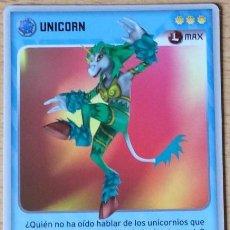 Trading Cards: INVIZIMALS, DE PANINI. UNICORN - MAX. TRADING CARD Nº 88.. Lote 130246838