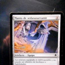 Trading Cards: CARTA MAGIC MANTO DE SEDASUSURRANTE ( DARKSTEEL ) ARTEFACTO. Lote 131284451