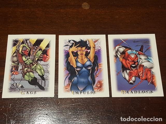 1995 SKYBOX YOUNBLOOD STICKERS SET DE 3 ADHESIVOS DE LA COLECCION DE TRADING CARDS EN PERFECTO ESTA (Coleccionismo - Cromos y Álbumes - Trading Cards)
