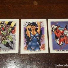 Trading Cards: 1995 SKYBOX YOUNBLOOD STICKERS SET DE 3 ADHESIVOS DE LA COLECCION DE TRADING CARDS EN PERFECTO ESTA. Lote 131924234
