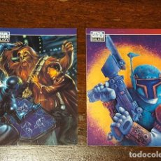 Trading Cards: STAR WARS GALAXY - SET DE DOS TRADING CARDS PROMO SERIES TWO CHEWBACCA BOBBA FETT P5 Y P6. Lote 132069914