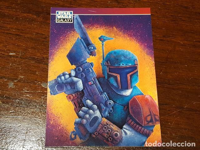 Trading Cards: Star Wars Galaxy - Set de dos trading cards promo Series two Chewbacca Bobba Fett P5 y P6 - Foto 3 - 132069914