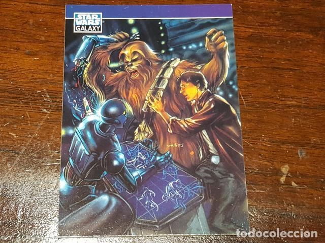 Trading Cards: Star Wars Galaxy - Set de dos trading cards promo Series two Chewbacca Bobba Fett P5 y P6 - Foto 4 - 132069914