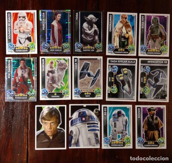 14 TOPPS TRADING CARDS STAR WARS FORCE ATTAX 2015 GAME - TRADING CARDS - VER FOTOS (Coleccionismo - Cromos y Álbumes - Trading Cards)