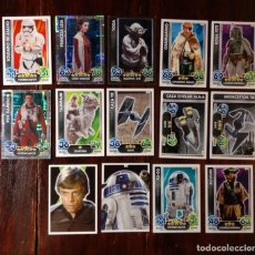 Trading Cards: 14 TOPPS TRADING CARDS STAR WARS FORCE ATTAX 2015 GAME - TRADING CARDS - VER FOTOS. Lote 132237270