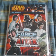 Trading Cards: ARCHIVADOR CON 216 CARTAS.CROMOS STAR WARS. --FORCE ATTAX 2013. Lote 133464822