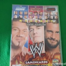 Trading Cards: WORLD WRESTLING COLECCTION LAMINCARDS – ALBUM INCOMPLETO. Lote 134349078