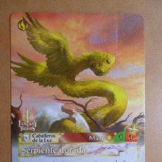 Trading Cards: Nº 238 - FANTASY RIDERS - CABALLEROS DE LA LUZ - SERPIENTE DORADA - PANINI 2018. Lote 137383349