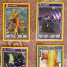Trading Cards: LOTE DE 4 CROMOS CARDS INVIZIMALS III BATALLA DE CAZADORES; PANINI. Lote 136117226