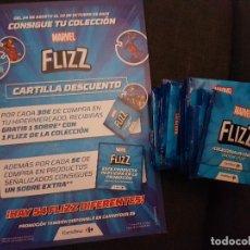 Trading Cards: FLIZZ MARVEL CARREFOUR CARTILLA Y 30 SOBRES DE CROMOS. Lote 136277250