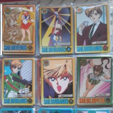 Trading Cards: SAILOR MOON R SUPER S BANDAI GRAFFITI 9 CARDS . Lote 139358470