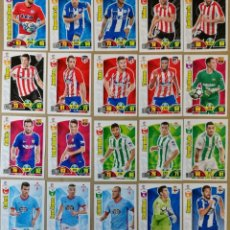 Trading Cards: LOTE DE 50 FICHAS DIFERENTES DISTINTOS ADRENALYN XL 2017-2018 TRADING CARDS LIGA 17 18 CROMOS. Lote 140540006