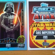 Trading Cards: CARTA EDICION LIMITADA ALEMANA LE5 DARTH VADER - STAR WARS FORCE ATTAX SERIE 3 - TOPPS. Lote 195249150