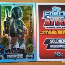 Trading Cards: CARTA EDICION LIMITADA ALEMANA LE11 BOBA FETT - STAR WARS FORCE ATTAX SERIE 3 - TOPPS. Lote 195249146