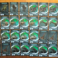 Trading Cards: LOTE DE 32 TRADING CARDS JURASSIC WORLD (2018) DINOSAURIOS. Lote 141504570