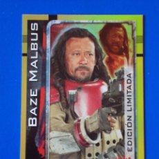Trading Cards: BAZE MALBUS EDICIÓN LIMITADA LESB . STAR WARS . ROGUE ONE . TOPPS . NUEVA. Lote 143851462