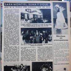 Trading Cards: SARA MONTIEL EN EL ESTRENO DE CINCO ALMOHADAS PARA UNA NOCHE EN MALLORCA. Lote 207040458