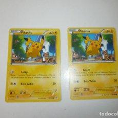 Trading Cards: 2 CARTAS POKEMON PIKACHU 2015 ESPAÑOL. Lote 144326186