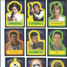 Trading Cards: STAR WARS : JOURNEY TO THE FORCE AWAKENS. SUBSET STICKERS COMPLETO (18 CARDS). Lote 144462482
