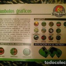 Trading Cards: FICHA ESPECIAL SIMBOLOS GRAFICOS DE EL MARAVILLOSO REINO ANIMAL. Lote 146812266