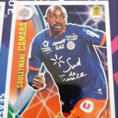 Trading Cards: CARD PANINI ADRENALYN XL LIGUE 1 FRANCIA SOULEYMANE CAMARA MONTPELLIER. Lote 147596098
