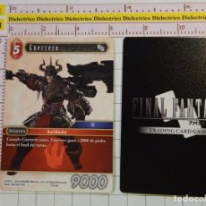 Trading Cards: TARJETA CROMO. TRADING CARD GAME FINAL FANTASY. VIDEOJUEGO MANGA ANIME. 6-014C GUERRERO. Lote 148196082
