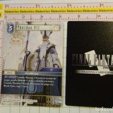 Trading Cards: TARJETA CROMO. TRADING CARD GAME FINAL FANTASY. VIDEOJUEGO MANGA ANIME. 6-108R THORDAN VII. Lote 148196298