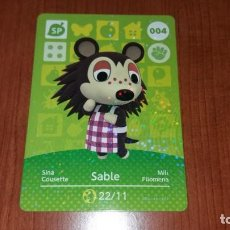 Trading Cards: SABLE - CARTA ANIMAL CROSSING - 004 - SERIE 1. Lote 148237362