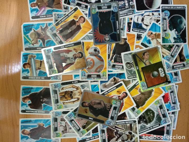 LOTE DE 49 TRADING CARDS TOPPS FORCE ATTAX STAR WARS (Coleccionismo - Cromos y Álbumes - Trading Cards)