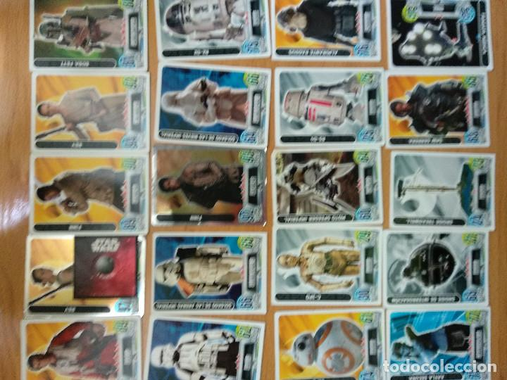 Trading Cards: LOTE DE 49 TRADING CARDS TOPPS FORCE ATTAX STAR WARS - Foto 3 - 148928034