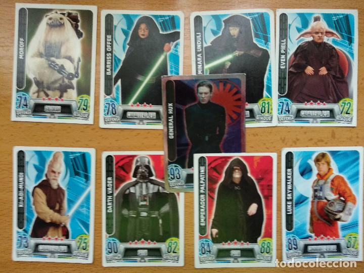 Trading Cards: LOTE DE 49 TRADING CARDS TOPPS FORCE ATTAX STAR WARS - Foto 4 - 148928034