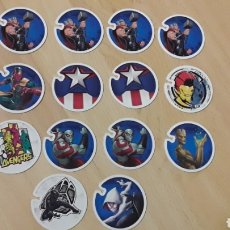 Trading Cards: LOTE 14 TAZOS FLIZZ MARVEL...COLECCIÓN CARREFOUR... Lote 150498102