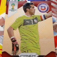 Trading Cards: PANINI PRIZM MUNDIAL FUTBOL 2014 CLAUDIO BRAVO CHILE. Lote 152487198
